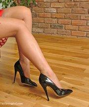 little stockings high heels