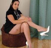 Naked high heels