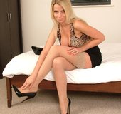 Beautiful high heels blonde